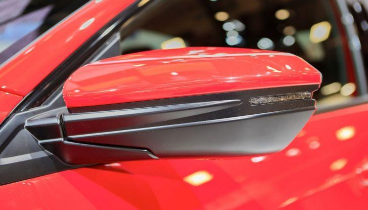 Nuova Honda Civic, specchietto.
