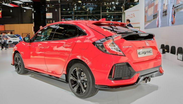 Nuova Honda Civic, 3/4 laterale posteriore.