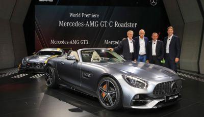 Nuova Mercedes AMG GT C Roadster: il V8 da 557CV e 680Nm di coppia