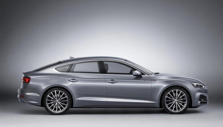 Nuove Audi A5 e S5 Sportback 2017 laterale