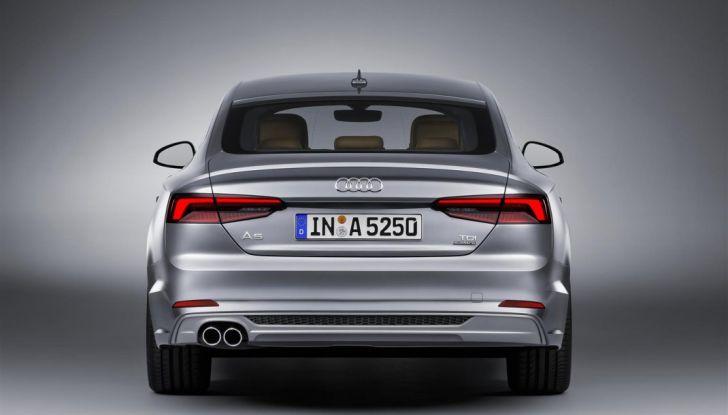 Nuove Audi A5 e S5 Sportback 2017 posteriore