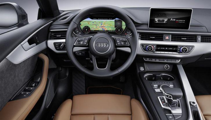 Nuove Audi A5 e S5 Sportback 2017 postazione di guida