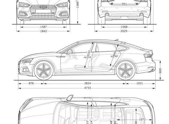Nuove Audi A5 dimensioni
