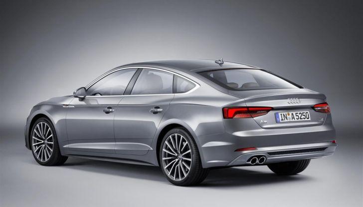Nuove Audi A5 e S5 Sportback 2017 fianco