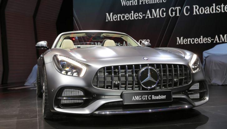 auto novità mercedes AMG GT C Roadster calandra salone Parigi 2016