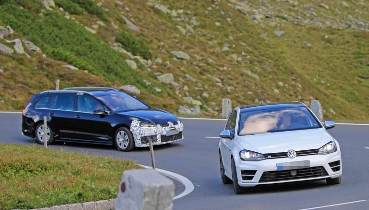 Volkswagen Golf VII R Variant Facelift prime foto spia - Foto 13 di 14