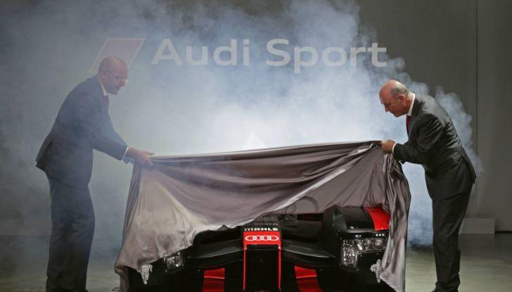Alla Finale Audi Sport 2015 presentata la nuova R18 per il WEC