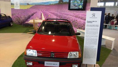 Peugeot al Salone Auto e Moto d'Epoca: i trent'anni della 205