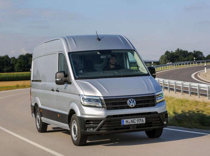 Volkswagen Crafter prova su strada del veicolo commerciale di nuova generazione - Foto 8 di 34