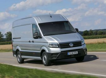 Volkswagen Crafter prova su strada del veicolo commerciale di nuova generazione