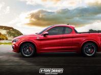 Alfa Romeo Stelvio pick-up, il rendering