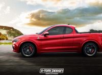 Alfa Romeo Stelvio pick-up, il rendering