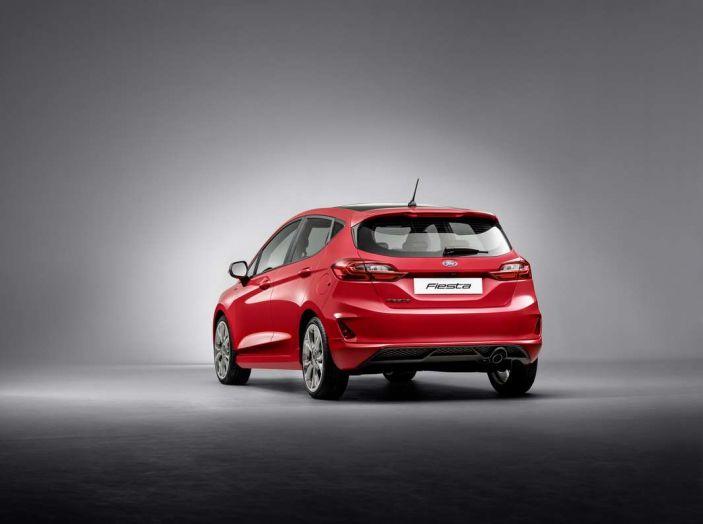 Ford Fiesta 2017, posteriore laterale, nuova generazione.