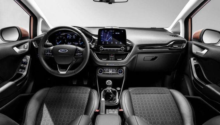 Ford Fiesta 2017 nuova generazione, interno.