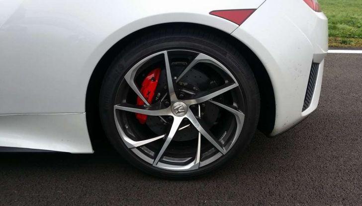 Nuova Honda NSX 2017, cerchio.