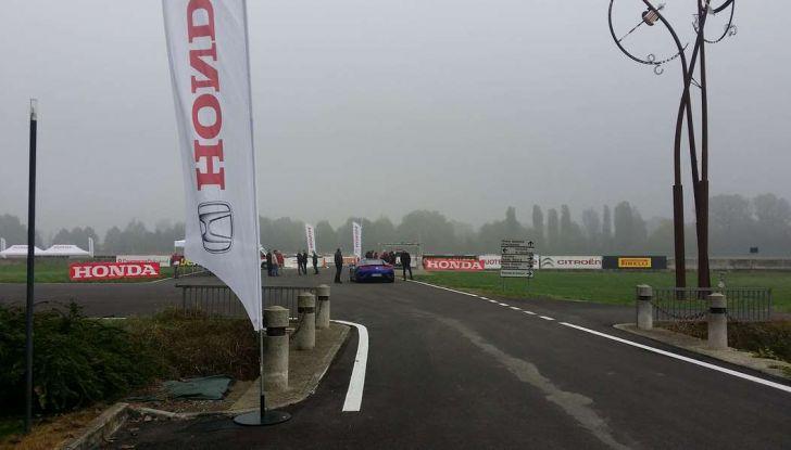 Nuova Honda NSX 2017, prova in pista a Vairano.