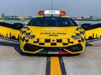 Lamborghini Huracan a Bologna in pista…di atterraggio