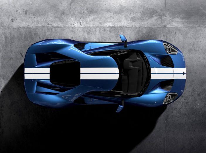 Ford GT 2017, dall'alto.