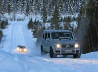 Mercedes Classe G di nuova generazione, foto spia sulla neve