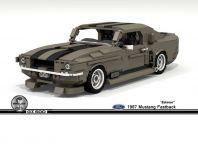 Eleanor Shelby Mustang GT500 di Fuori in 60 Secondi costruita in LEGO