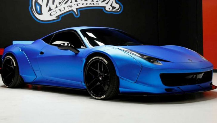 La Ferrari 458 Italia Liberty Walk di Justin Bieber in vendita all'asta