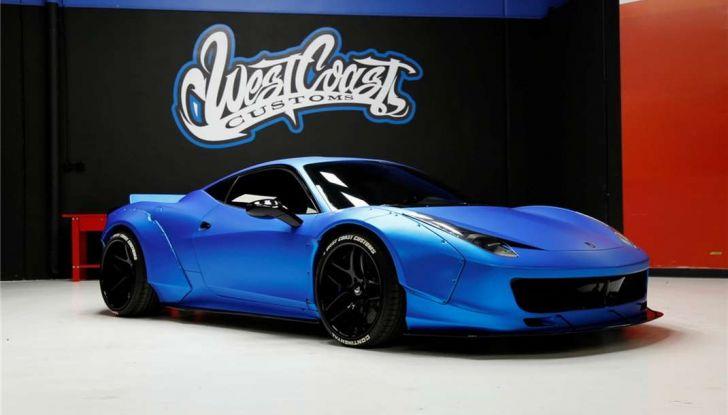 La Ferrari 458 Italia Liberty Walk di Justin Bieber in vendita all'asta (2)