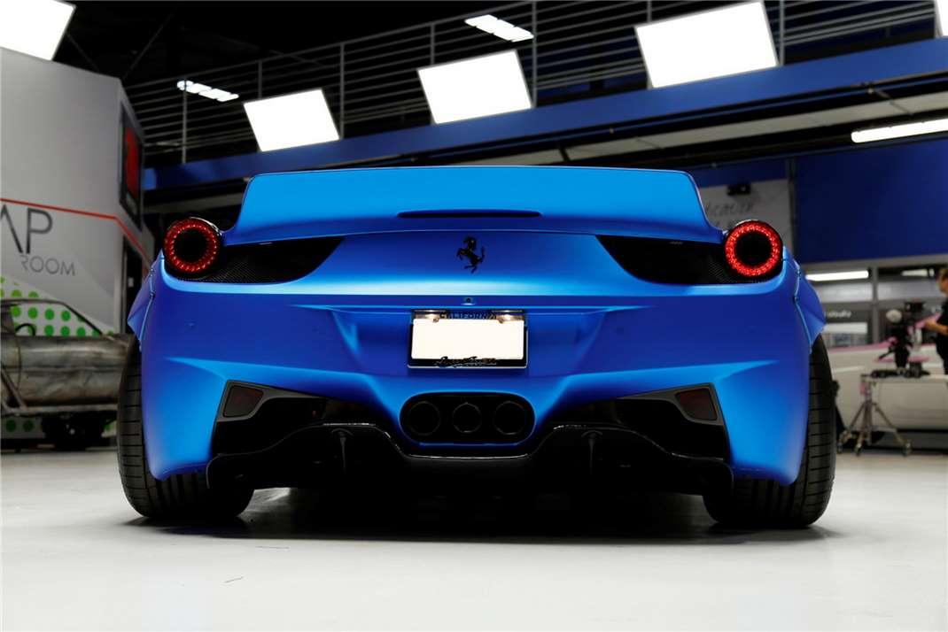 La Ferrari 458 Italia Liberty Walk di Justin Bieber in vendita all'asta - Infomotori