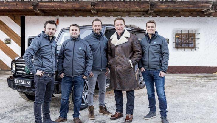 Arnold Schwarzenegger si regala un Mercedes Classe G elettrico da 489CV - Foto 9 di 14