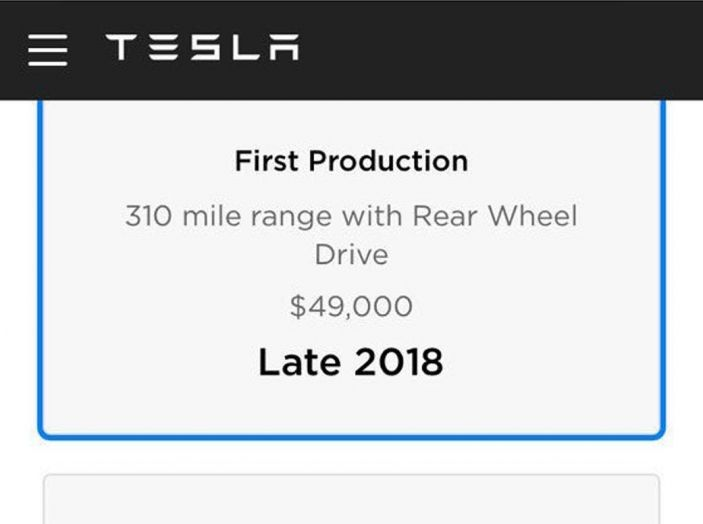 Tesla Model 3 arriva con prezzi più alti ed autonomia anche a 500 km - Foto 7 di 11