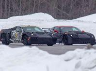 Corvette C8 prime immagini spia della futura generazione a motore centrale
