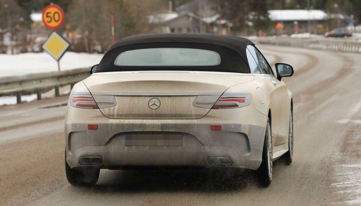 Nuova Mercedes Classe S Cabrio restyling, foto spia, posteriore.