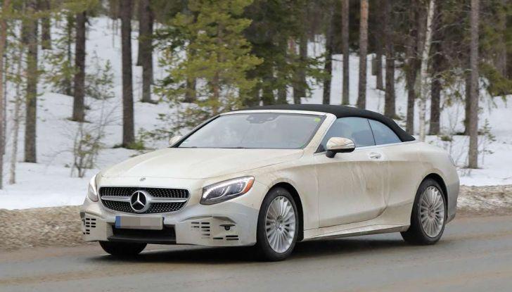 Nuova Mercedes Classe S Cabrio restyling, foto spia.