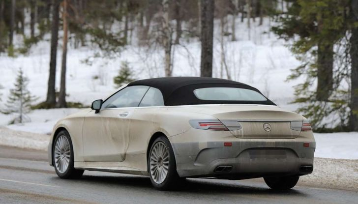 Mercedes Classe S Cabrio restyling, foto spia