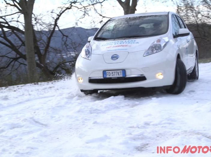 Nissan Leaf, Test Drive sulla neve.