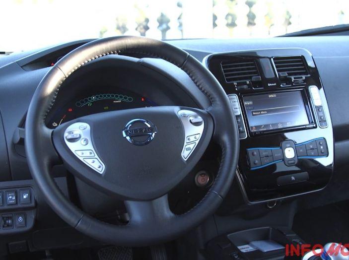 Nissan Leaf Test Drive, postazione di guida.
