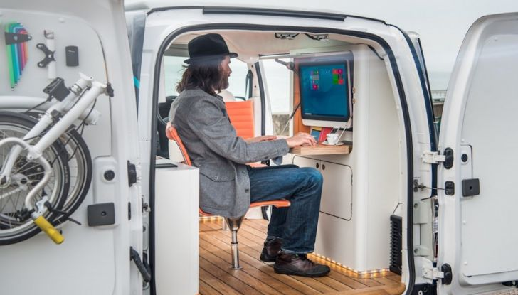 Nissan e-NV 200 WORKSPACe: l'ufficio mobile a zero emissioni - Foto 7 di 10