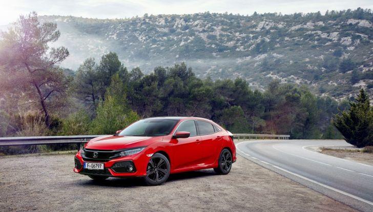 Nuova Honda Civic 3/4 laterale anteriore