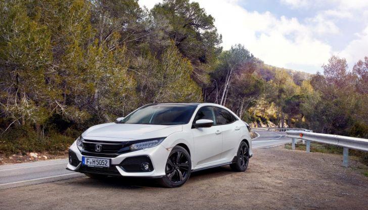 Civic Honda nuova, prova su strada.