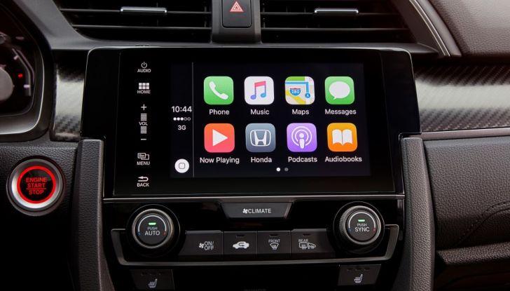 Nuova Honda Civic 2017, connettività