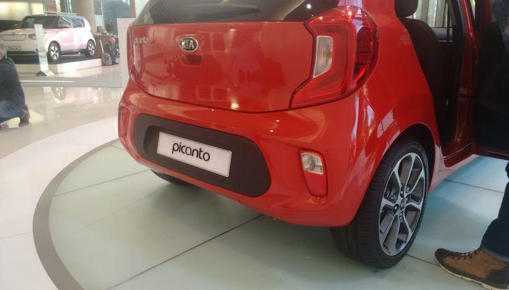 Nuova Kia Picanto, profilo posteriore.