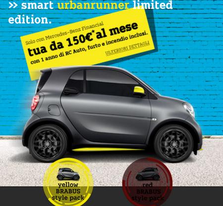 Smart fortwo turbo 90 CV da 150 euro e tassi da record al 5,95% (1)