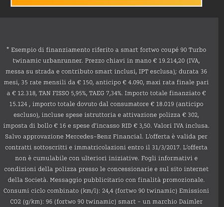 Smart fortwo turbo 90 CV da 150 euro e tassi da record al 5,95% (5)
