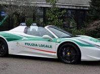 Ferrari 458 Spider della Mafia in dotazione alla Polizia