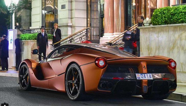 Ferrari La Ferrari Bronzo Opaco, l'esemplare unico incanta Monaco - Foto 2 di 5