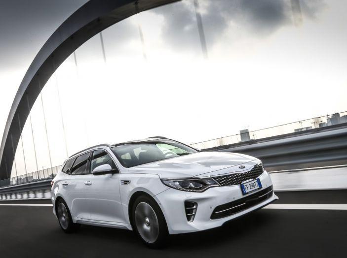 Kia Optima Sportswagon Plug-In Hybrid, evoluzione silenziosa - Foto 1 di 16