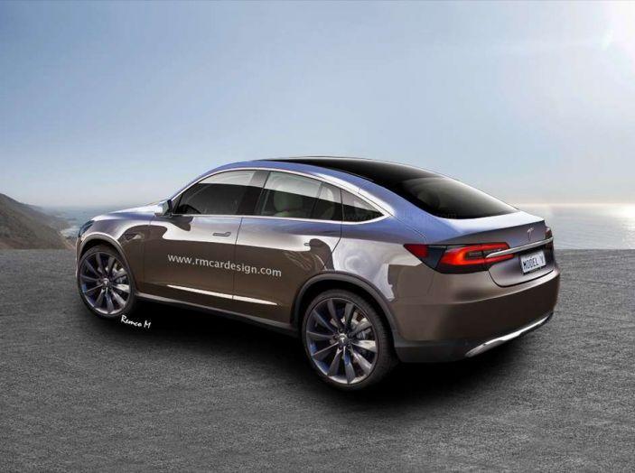 Tesla Model Y, rendering del crossover compatto elettrico - Foto 2 di 3