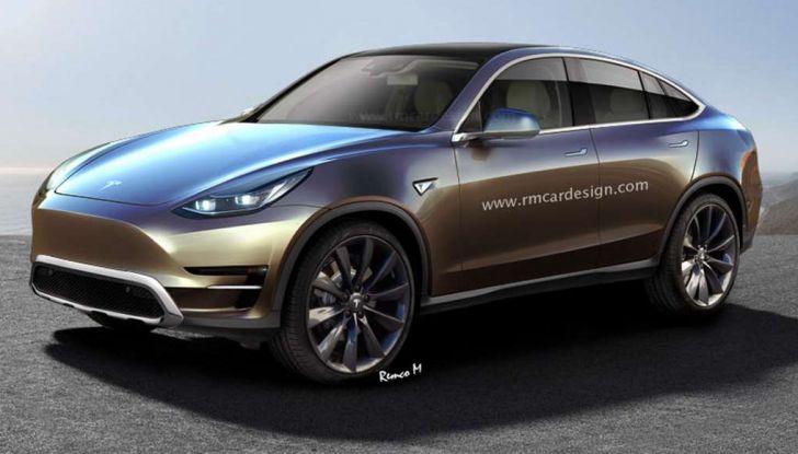 Tesla Model Y, rendering del crossover compatto elettrico - Foto 1 di 3