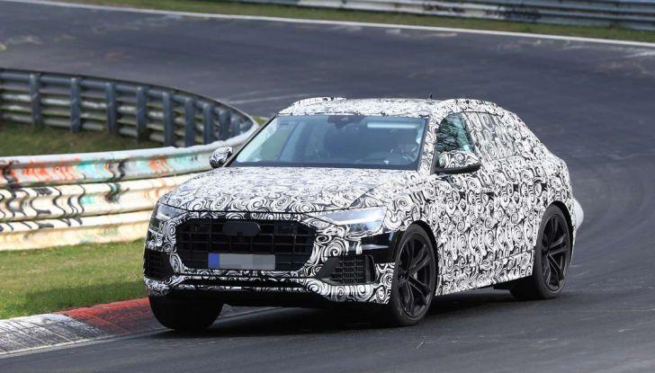 Audi Q8: i test drive del SUV proseguono al Nurburgring - Foto 1 di 8