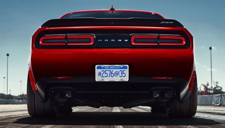 Dodge Challenger SRT Demon 2018: 840CV di pura cattiveria - Foto 9 di 10