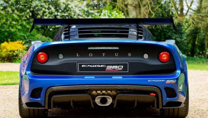 Lotus Exige Cup 380, stradale  da corsa in edizione limitata - Foto 5 di 12